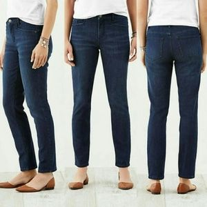 New J Jill Smooth Fit Slim Ankle Jean Dark Stretch